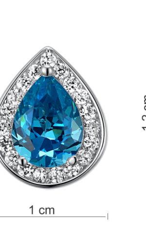 Blue Topaz Silver Stud Earrings