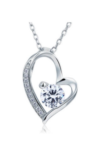 Diamond Heart Necklace.
