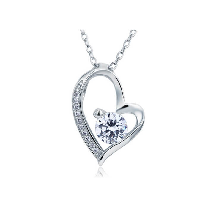 Diamond Heart Necklace.