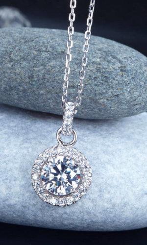 Round Diamond Pendent.