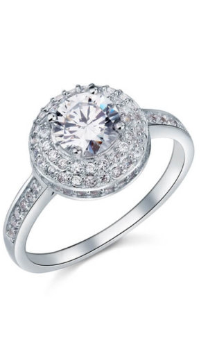 Round Diamond Engagement Ring.