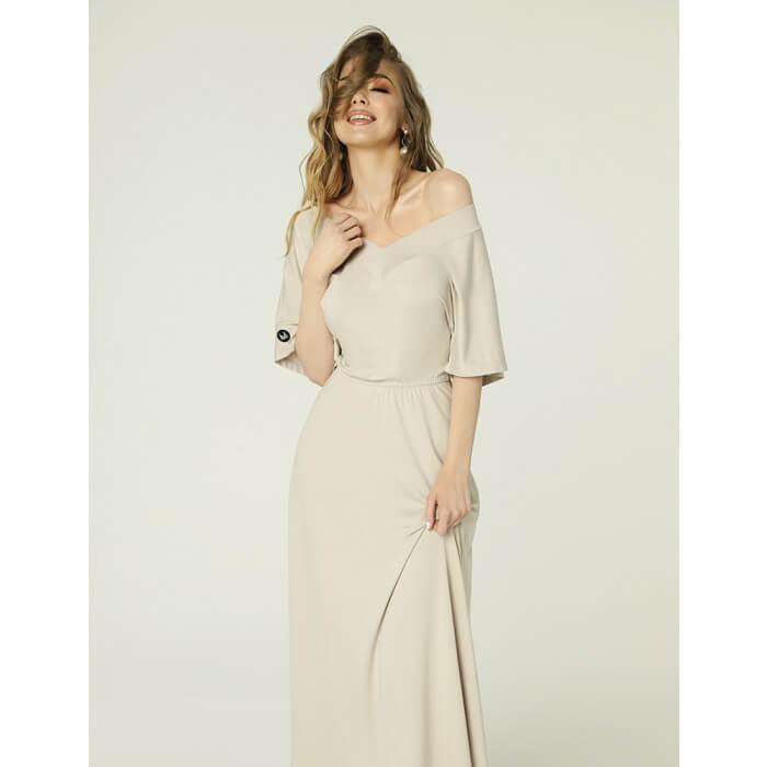 Evie Dress Light Beige