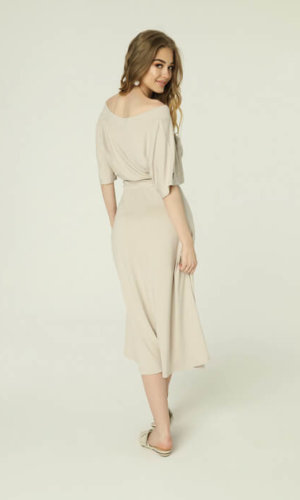 Evie Dress Light Beige