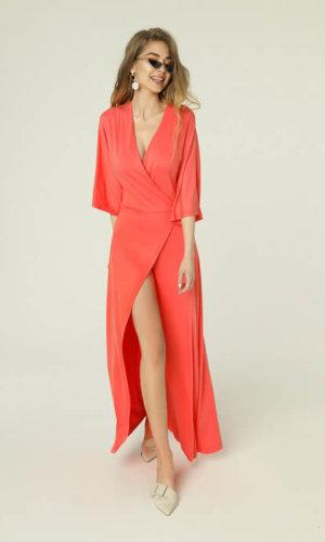 Monica Dress Coral