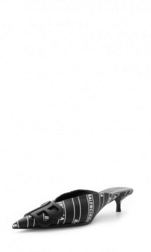 BALENCIAGA Mule Sandal BB Black