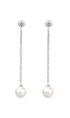 Classic Large Shell Pearl Drop Earrings
