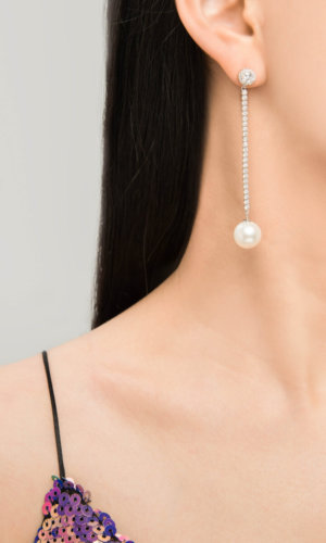 Classic Large Shell Pearl Drop Earrings