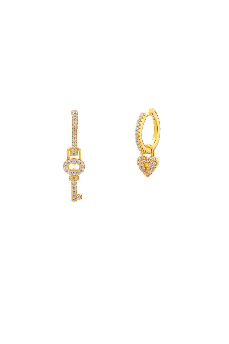 Love Padlock Earrings