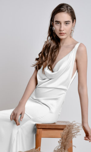 White Bareback Dress.
