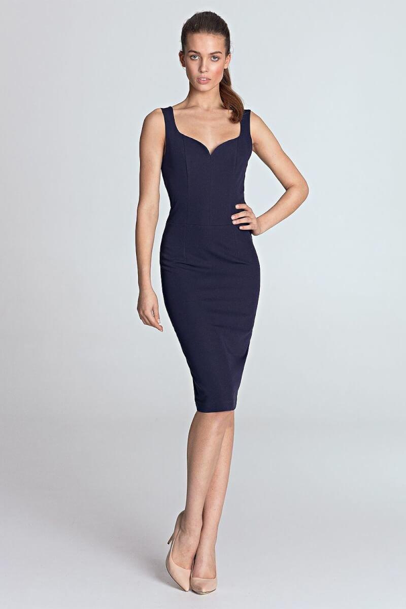 Blue Pencil Cocktail Dress