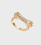 Opes Robur Rose Gold Pave Cuff Ring