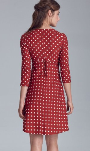 Red and White Polka Dress