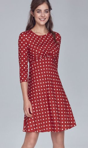 Polka Dot Red and White Skata dress