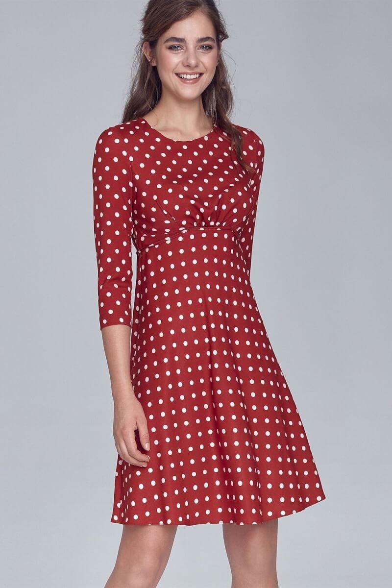 Polka Dot Red and White Skata dress