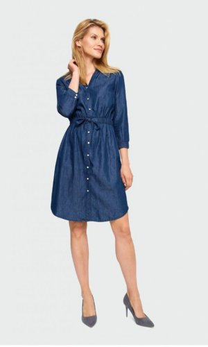 Short Denim Shirt Dress