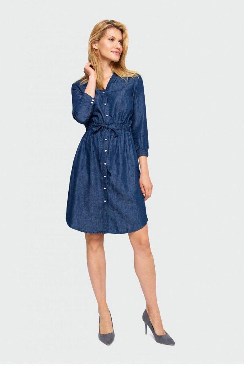 Short Denim Shirt Dress