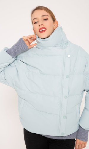 Light Turq wind breaker