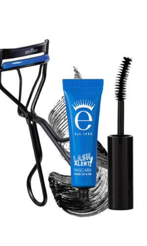 Lash Alert Cushion Curler + Mascara.