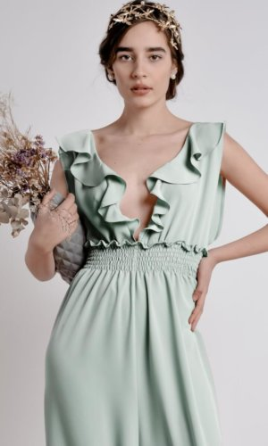 The Farah Jumpsuit in Mint