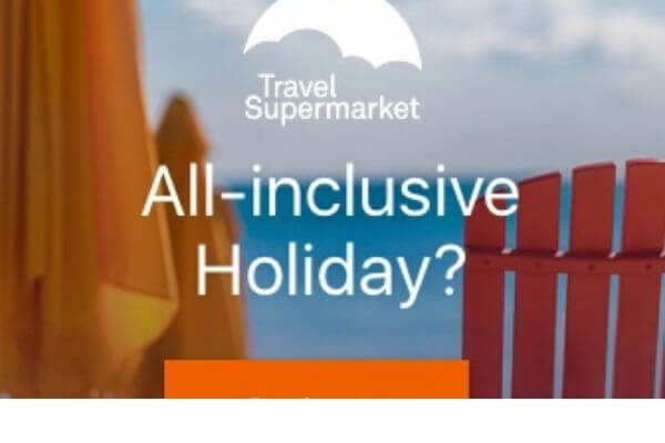 Travel supermarket shop banner