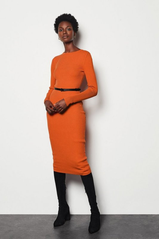 Orange Knit Dress