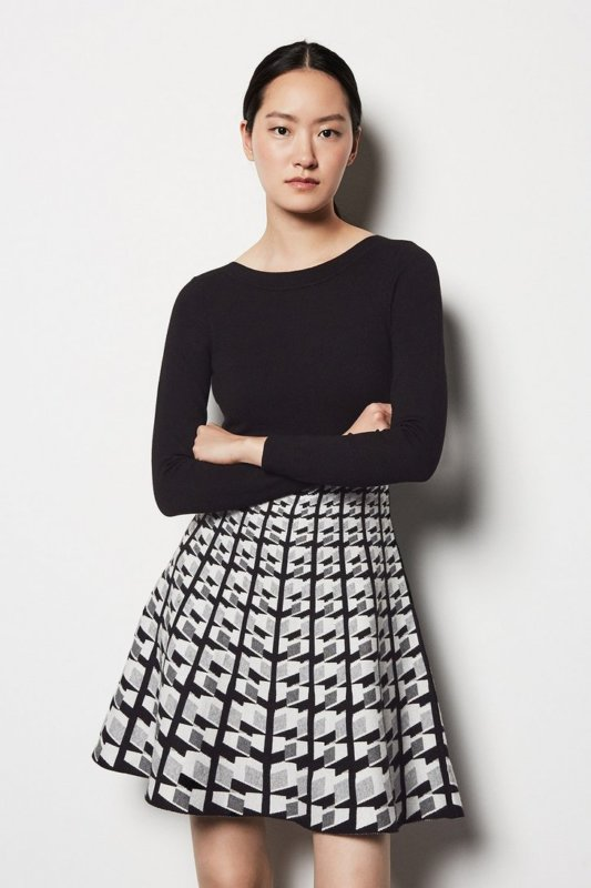 Geo Knit Dress