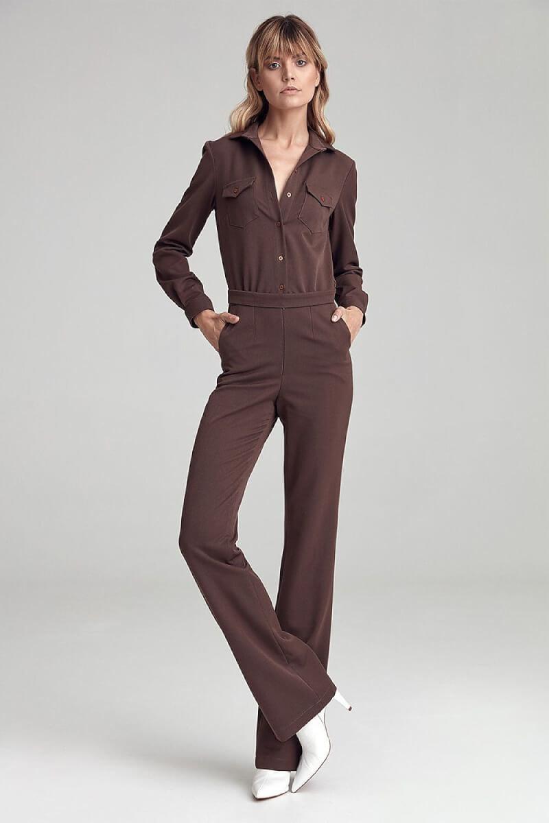 Brown Jumpsuit