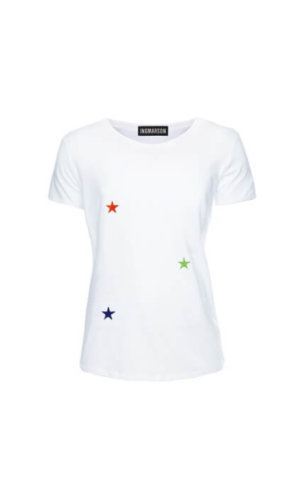 Stars Embroidered T-Shirt Multicolour