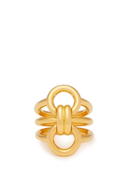 Charlotte Chesnais - Trypitch Detachable Linked 18kt Gold Plated Ring