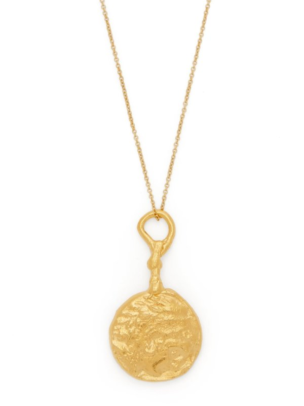 The Wandering Muse 24kt gold-plated necklace