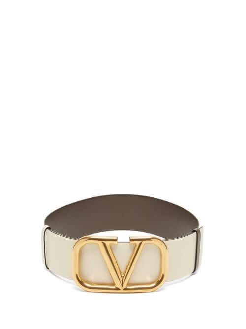 Valentino - Oversized V Logo Leather Belt