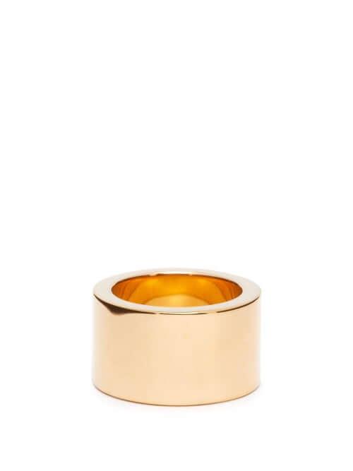 Bottega Veneta - Wide Gold Plated Ring