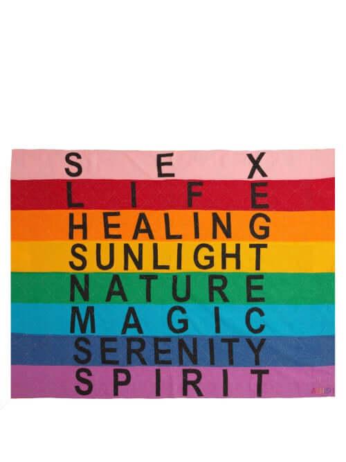 MATCHESFASHION.COM - UK Link Name Ashish - Rainbow Stripe Appliqué Blanket