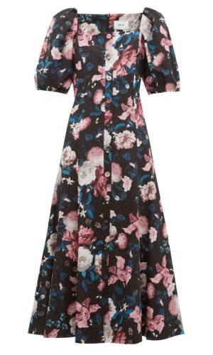 Erdem - Mariona Floral Jacquard Cotton Blend Midi Dress