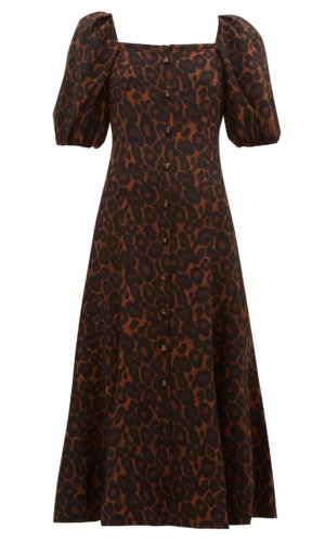 Erdem - Mariona Puffed Sleeve Silk Crepe De Chine Dress
