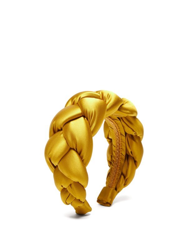 Braided silk-satin headband