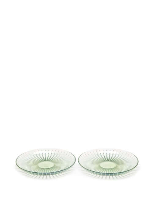 Luisa Beccaria - Set Of Two Glass Fruit Plates - Green