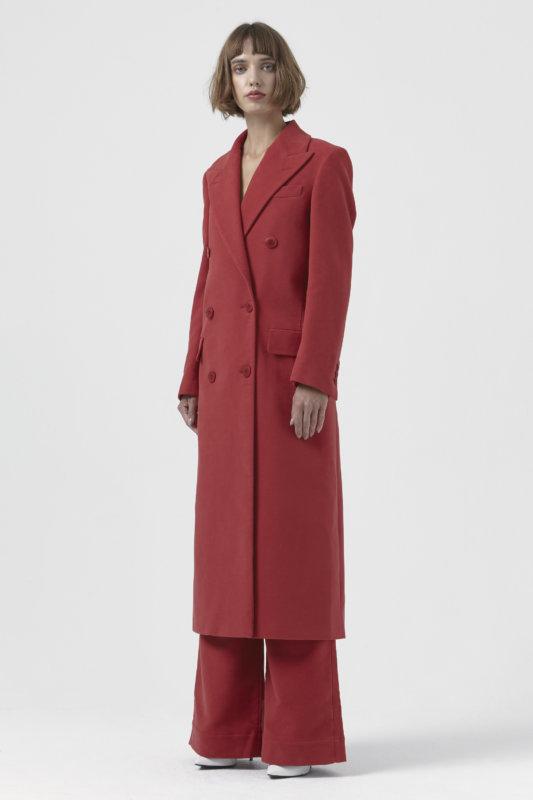 Red Organic Cotton Coat