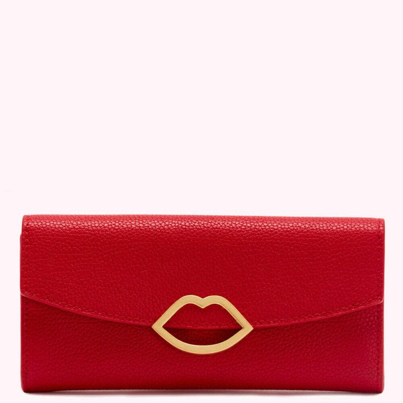 Lulu Guinness Classic Red Trisha Wallet