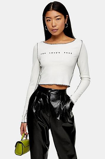 or Loves Sake Long Sleeve T-Shirt - White