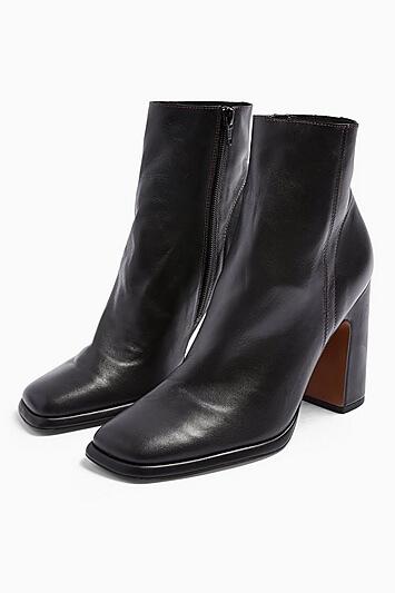 Holden Leather Black Platform Boots