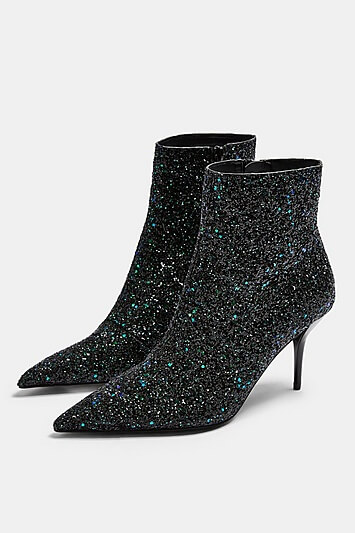 Hey Sequin Point Boots - Multi