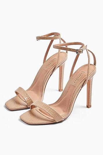 Saskia Skinny 2 Part Heels - Nude