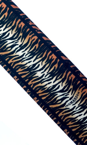 Tiger Silk Neck Scarf Burnt Orange