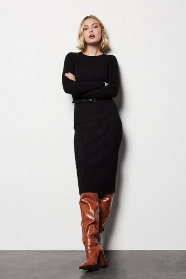Skinny Rib Knit Dress