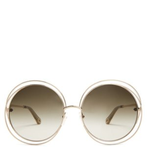 Chloé - Carlina Round Metal Sunglasses - Womens - Grey