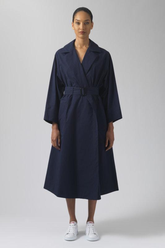 Lola navy organic cotton coat