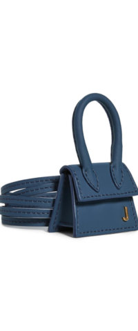 Jacquemus navy blue bag mini
