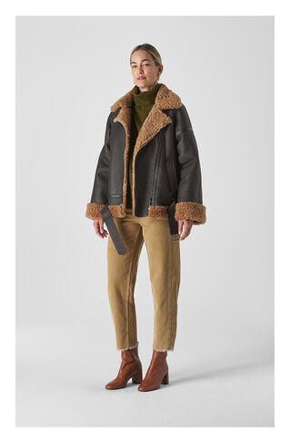 Shearling Brooke Biker Jacket