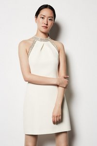 Karen Millen Chain Detail Dress - Ivory